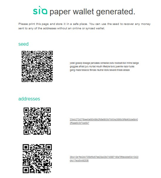 siacoin wallet